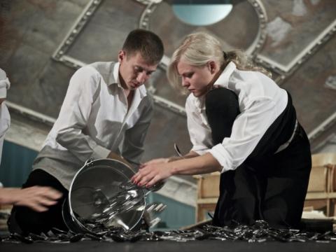 Marius Repšys (Abraomas) ir Toma Vaškevičiūtė (Dora). Nuotrauka iš LNDT archyvo