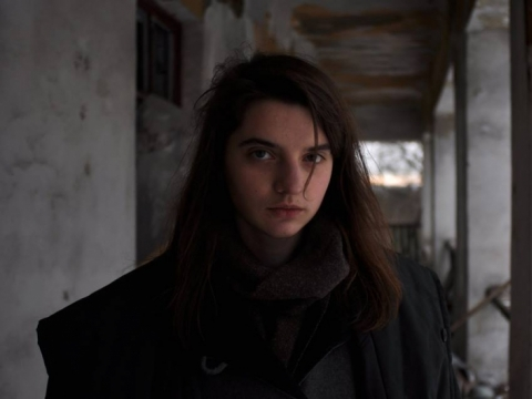 "Lyja Maknavičiūtė filme ""Šerkšnas"", nuotr. iš Kinemos archyvo"