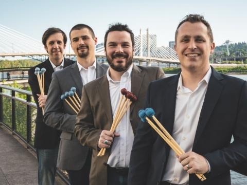 """JAV mušamųjų grupė """"Portland Percussion Group"""". Organizatorių nuotr."""