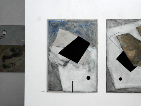 """Parodos """"Vietos atmintis"""" galerijoje """"Meno parkas"""" fragmentas. Autorės nuotr."""