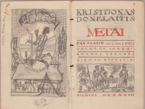 """Petras Repšys, """"Metų"""" antraštinio atvarto projektas. 1993–2000 m."""
