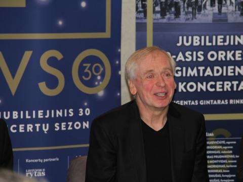 Gintaras Rinkevičius spaudos konferencijoje. LVSO nuotr.