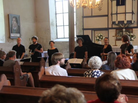 Po koncerto Rusnės bažnyčioje. Autorės nuotr.