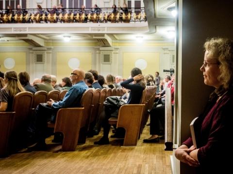 Skirmantė Valiulytė Nacionalinėje filharmonijoje. D. Matvejevo nuotr.