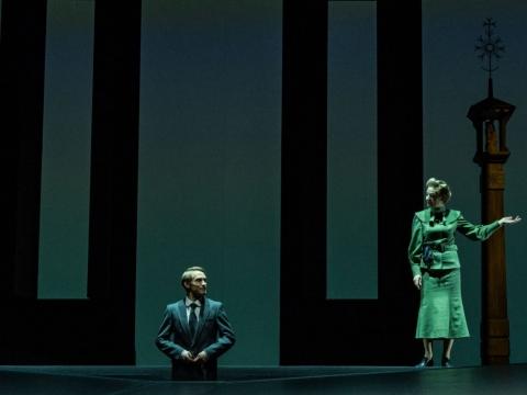 """Scena iš spektaklio """"Tie metai"""". A. Gudo nuotr."""