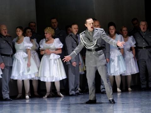 """Tadas Girininkas (Karalius) operoje """"Lohengrinas"""". M. Aleksos nuotr."""