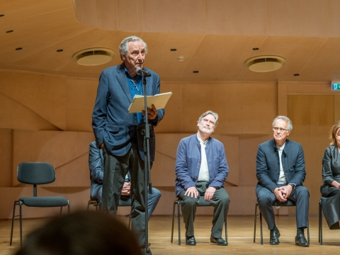 """Konkurso """"Tallinn 2021"""" komisijos pirmininkas Ralfas Gothóni ir žiuri nariai. Organizatorių nuotr."""
