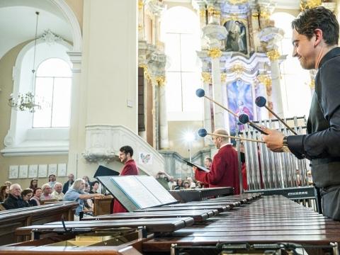 Vilniaus festivalio koncerto akimirka. D. Matvejevo nuotr.