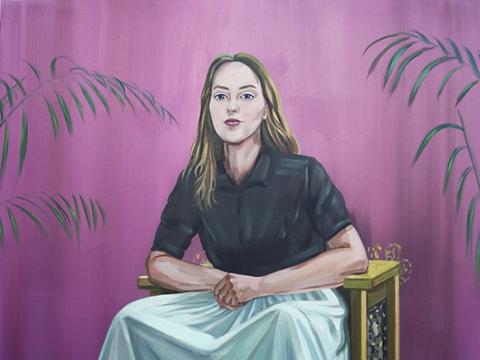 "Monika Plentauskaitė, ""Tapytoja (autoportretas)"". 2018 m."