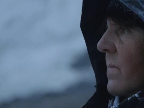 """Kadras iš filmo """"Moteris ir ledynas"""""""