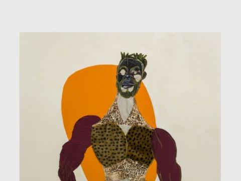 "Tschabalala Self, ""Mane"". 2016. ""Lewben Art Foundation"" kolekcija"