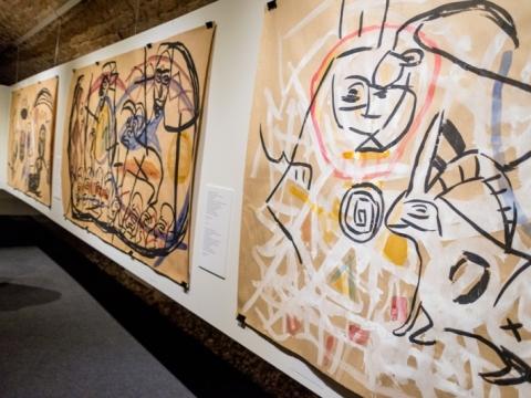 Elvyra Kairiūkštytė, piešinių parodos fragmentas. E. Levin nuotr.