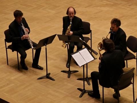 """Saksofonų kvartetas """"Anemos"""". R. Ziberko nuotr."""
