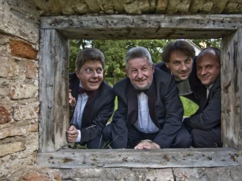 Čiurlionio kvartetas: Jonas Tankevičius, Saulius Lipčius, Gediminas Dačinskas, Darius Dikšaitis. E. Krukovskio nuotr.