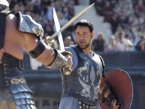 "Russellas Crowe filme ""Gladiatorius"""
