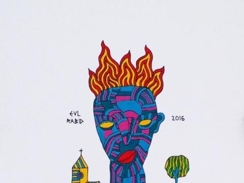 """Jonas Valatkevičius, """"My head is on fire and I can't hide"""". 2016 m. Nuotrauka iš asmeninio archyvo"""