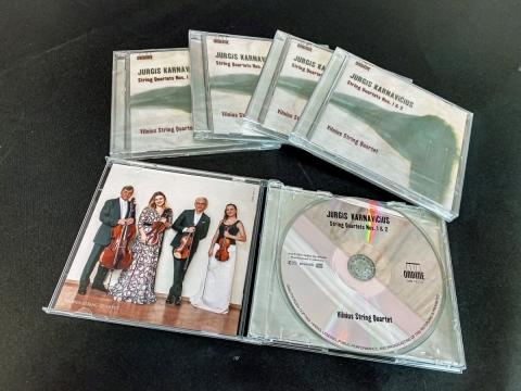 Jurgio Karnavičiaus kvartetų kompaktinė plokstelė