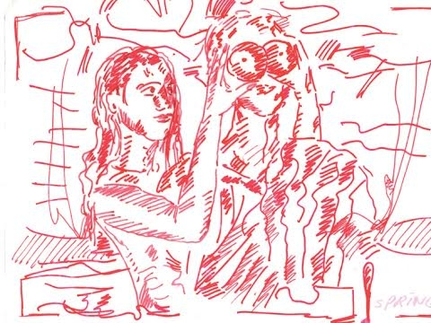 "Jutta Koether, ""Sezonai"", fragmentas. 2011 m. Autorės nuosavybė"