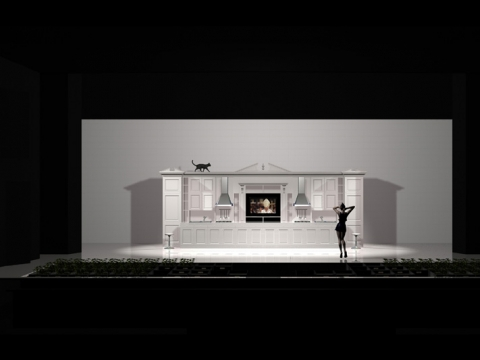 Spektaklio scenografijos maketas
