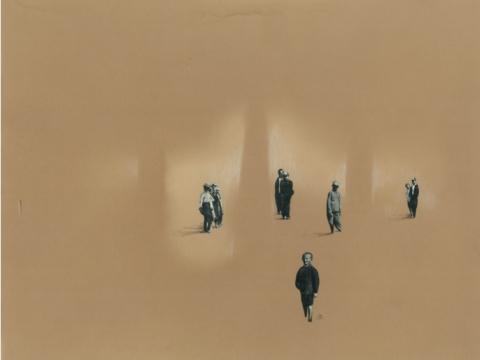 """Toma Šlimaitė, kūrinys iš koliažo ciklo """"Vaikai iš Marso ar..."""" Nr. 10. 2016 m."""