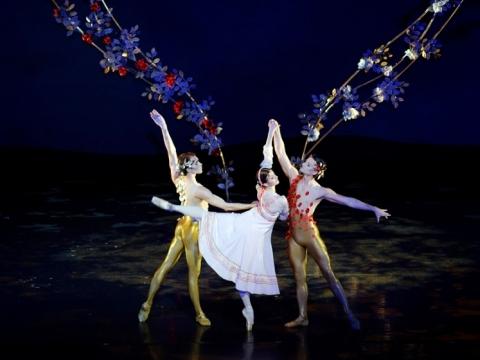 """Scena iš baleto """"Sniego karalienė"""". M. Aleksos nuotr."""