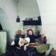 """Audrius Puipa, iš serijos """"Inscenizuoti paveikslai"""". """"Lėbautojai"""" (pagal Janą Steeną). Pozuoja Lilija Puipienė, Saulius Kruopis. 1997 m. G. Trimako nuotr."""
