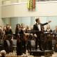 Baltijos šalių akademijų orkestras ir Modestas Barkauskas. M. Aleksos nuotr.