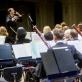 Modestas Pitrėnas ir Lietuvos nacionalinis simfoninis orkestras. LNF archyvo nuotr.