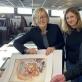 Parodos eksponatų atranka Torunės universiteto Grafikos kabinete: Giedrė Jankevičiūtė, Elżbieta Hudzik, Jan Kotłowski. Foto Gabrielė Radzevičiūtė