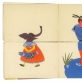 """Lidijos Glinskienės iliustracija Alekso Baltrūno knygai """"Katė ir balandis"""". 1967 m."""