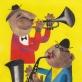 """Reginos Ulbikaitės iliustracija iš knygos """"Žaliapūkė ir jos draugai"""". 1961 m."""