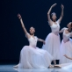 "Barbora Gudavičiūtė, Ksenija Jermakova, Kotryna Fedorovičiūtė ir Kotryna Rudych scenoje iš ""Pas de Quatre"". M. Aleksos nuotr."