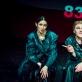 """Fausta Semionovaitė ir Kamilė Petruškevičiūtė spektaklyje """"Juodi bateliai"""". D. Putino nuotr."""
