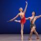 Vakarė Radvilaitė ir Deividas Dulka Baleto skyriaus Gala koncerte. M. Aleksos nuotr.