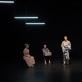 """Roberta Sirgedaitė, Karolis Norvilas, Raimondas Klezys ir Arnas Ašmonas spektaklyje """"SoDra, Mon Amour"""". D. Ališausko nuotr."""
