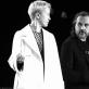 "Darja Moroz (Irina Arkadina) ir Oskaras Koršunovas spektaklio ""Žuvėdra"" repeticijoje. A. Kremer-Khomassouridze nuotr."