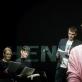 """Jolanta Dapkūnaitė, Monika Bičiūnaitė, Martynas Nedzinskas ir Miglė Polikevičiūtė pjesės """"Henrietta Lacks"""" skaityme. D. Matvejevo nuotr."""