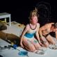 "Sandrina Lindgren ir Ishmael Falke spektaklyje ""Nematomi kraštai"". D. Putino nuotr."