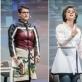 "Wenke Seemann, Ilia Papatheodorou, Berit Stumpf, Alexandra Lachmann, Lisa Lucassen ir Katharina Lorenz ""She She Pop"" spektaklyje ""Stalčiai"". D. Matvejevo nuotr."