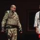 """Liudas Vyšniauskas ir Darius Meškauskas spektaklyje """"Antigonė"""". K. Meliausko nuotr."""