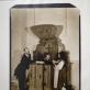 """Audrius Puipa, Gintautas Trimakas, , iš ciklo """"Inscenizuoti paveikslai"""", pagal François Boucher paveikslą """"Gundymas"""". 1994 m. Inscenizacija pagal nugirstą tikrą istoriją, kurios veiksmas vyko Vilniuje, Šv. Jonų bažnyčioje. Pozavo Viktoras Kormicevas, Saulius Paukštys, Sandra Straukaitė. A. Narušytės nuotr."""