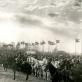Kavalerijos pulko paradas, kurį stebi Prezidentas A. Stulginskis ir ministras pirmininkas L. Bistras.  Kaunas, 1922 m. LMAVB RSS