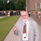 Stauskas 45-ojo pasaulinio IFLA kongreso dalyvių vakaronėje karališkajame Het Loo parke Apeldorne (Olandija). 2008 m. A. Žickio nuotr.