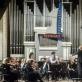 Keri-Lynn Wilson, Žilvinas Brazauskas ir Lietuvos nacionalinis simfoninis orkestras. D. Matvejevo nuotr.