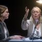 """Toma Vaškevičiūtė, Dalia Michelevičiūtė ir Rimantė Valiukaitė spektaklyje """"Chaosas"""". D.Matvejevo nuotr."""