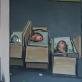 """Andrius Zakarauskas, """"Tapytojo portretų paveikslai dėžėse"""". 2014 m. Nuotrauka iš galerijos """"Vartai"""" archyvo"""