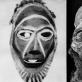 Afrikos, Meksikos ir Melanezijos teatrinių apeigų kaukės, pagamintos iš žmonių kaukolių