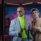 """Emilis Pavilionis ir Arnas Danusas spektaklyje """"Hotel Universalis"""". T. Povilonio nuotr."""