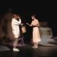"""Milda Jonaitytė, Roberta Sirgedaitė, Raimondas Klezys ir Karolis Norvilas spektaklyje """"SoDra, Mon Amour"""". D. Ališausko nuotr."""