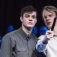"""Oskaras Vygonovskis ir Laurynas Jurgelis spektaklyje """"Nežinoma žemė. Šalčia"""". D. Matvejevo nuotr."""